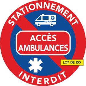 stationnement interdit car accès réservé aux ambulances