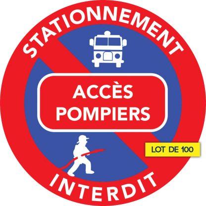 défense de stationner devant accès pompiers
