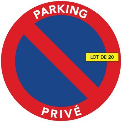 stationnement interdit sur parking privé. Par 20