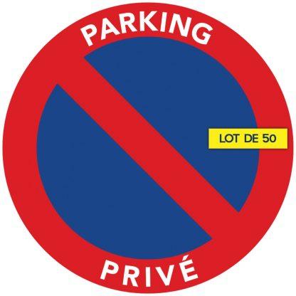 stationnement interdit sur parking privé. Par 50