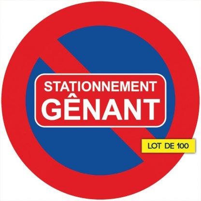 sticker stationnement gênant vendus par 100