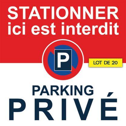 stickers parking privé. vendus par 20