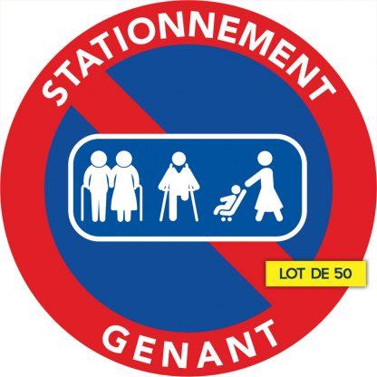 stationnement interdit car passage de personnes