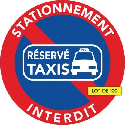 stationnement interdit car réservé aux taxis. Lot de 100
