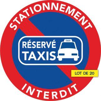 stationnement interdit car réservé aux taxis. Lot de 20