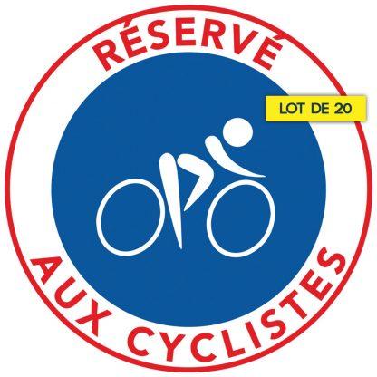Stationnement interdit sur les pistes cyclables. Par 20