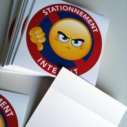 stickers stationnement interdit