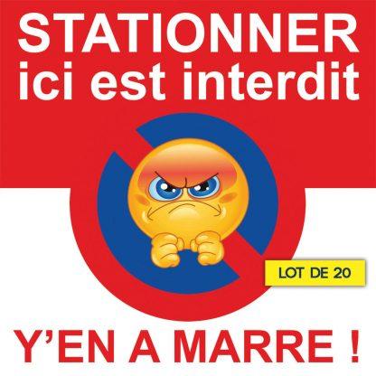 Stickers de stationnement gênant. Stationner ici est interdit