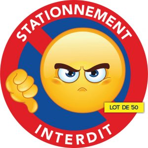 stickers interdit de stationner