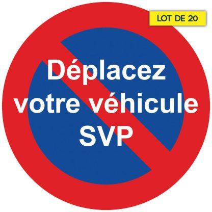 Stickers pour mauvais stationnement par 20